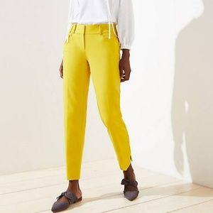Mustard Yellow Skinny Crop Pants Chino LOFT